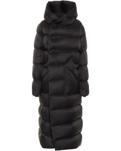 Черное стеганое пуховое длинное пальто Rick Owens