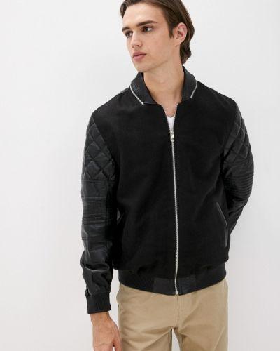 Кожаная куртка - черная Basics & More
