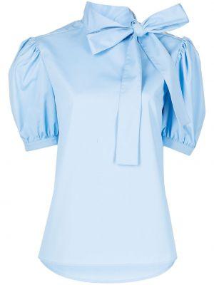 Блузка с бантом - синяя Jason Wu