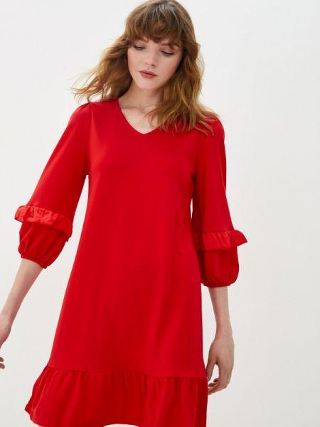 Красное прямое платье Lc Waikiki
