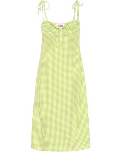 Платье в полоску из вискозы Solid & Striped