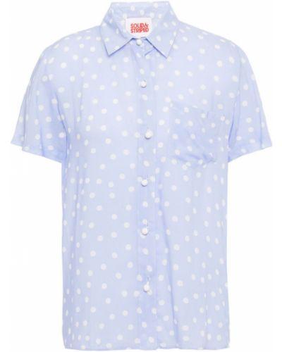Fioletowa koszula z wiskozy Solid & Striped