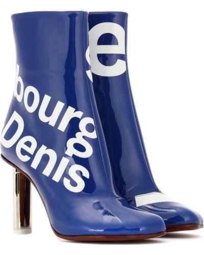 Ботинки на каблуке без каблука синий Vetements