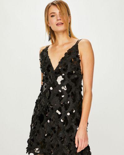 Платье мини с пайетками трикотажное Answear