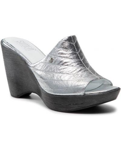 Sandały srebrne Simen