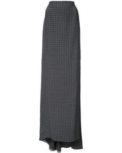 Шелковая юбка макси - серая Vera Wang