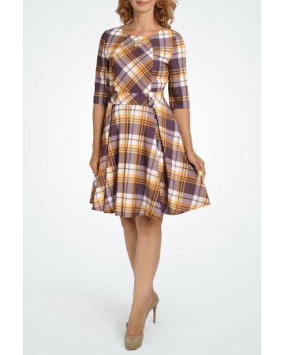 Платье с поясом со складками расклешенное Lacywear