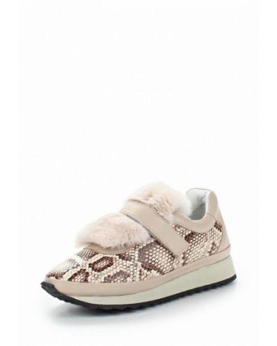 Бежевые кроссовки с мехом Grand Style