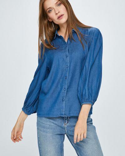 Блузка с длинным рукавом на пуговицах хлопковая Vila