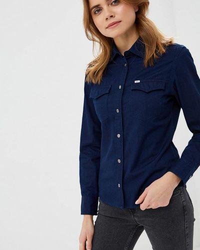 Синяя рубашка с длинным рукавом Lee