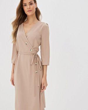 Платье прямое бежевое Nastasia Sabio