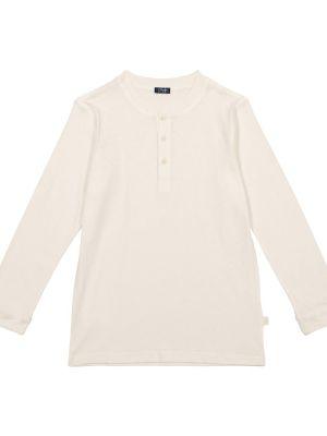 Biały sweter bawełniany na co dzień Il Gufo