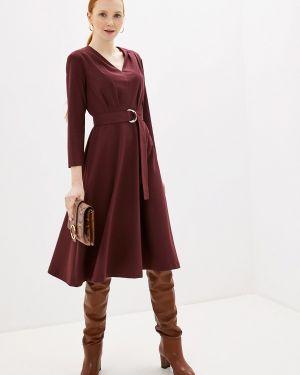 Платье бордовый прямое Villagi