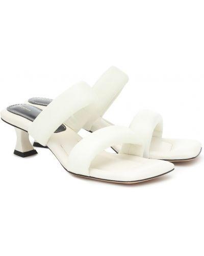 Biały sandały z prawdziwej skóry Proenza Schouler