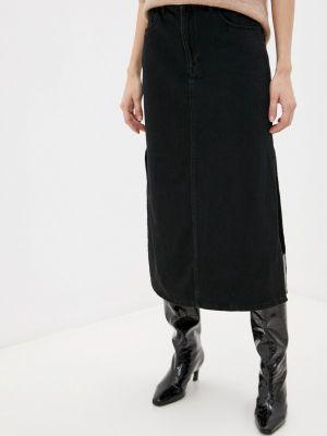 Джинсовая юбка - черная Selected Femme
