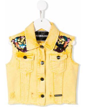 Желтая куртка без рукавов Marco Bologna Kids