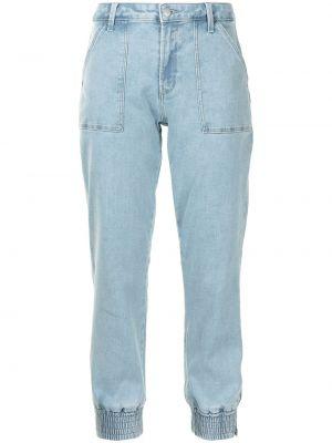 Синие укороченные джинсы с карманами на молнии J Brand