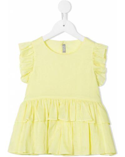 Желтая блузка без рукавов со вставками Il Gufo