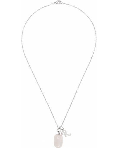 Różowy naszyjnik łańcuch srebrny Raf Simons
