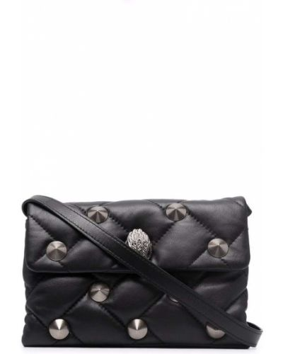 Czarna torebka z printem Kurt Geiger London
