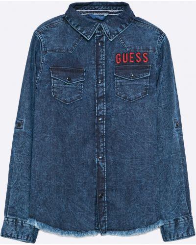 Джинсовая рубашка эластичный синий Guess Jeans