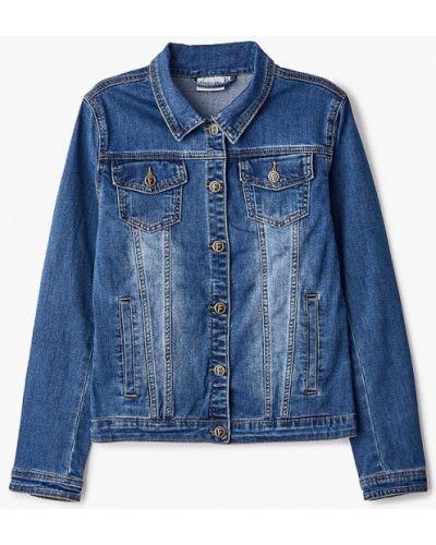 Расклешенная свободная синяя джинсовая куртка Finn Flare