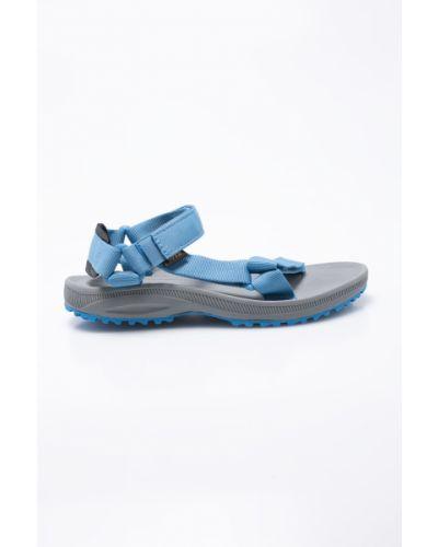Синие сандалии текстильные Teva