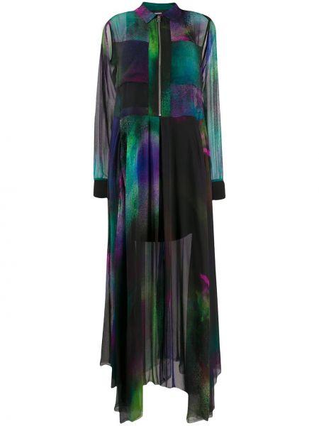 Платье макси с прозрачными рукавами пэчворк Diesel