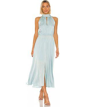Платье миди шелковое с вырезом Milly