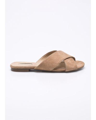 Бежевые сандалии текстильные Corina