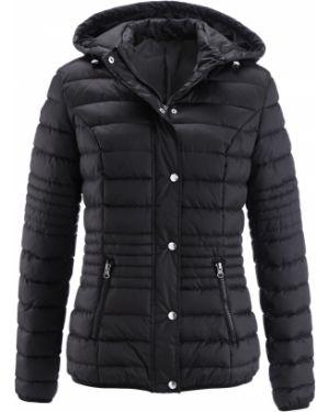 Куртка с капюшоном утепленная черная Bonprix