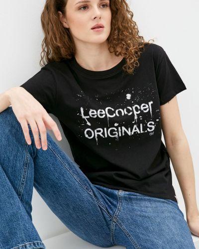 Черная футболка с короткими рукавами Lee Cooper