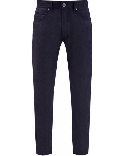 Хлопковые синие утепленные джинсы Cortigiani