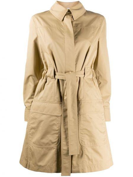 Длинное пальто из вискозы с воротником на пуговицах Moschino