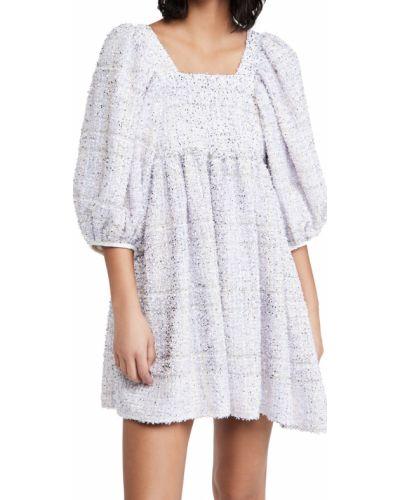 Платье мини твидовое с декольте квадратное Sister Jane