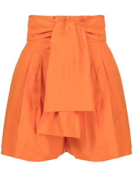 Оранжевые хлопковые с завышенной талией шорты Boutique Moschino