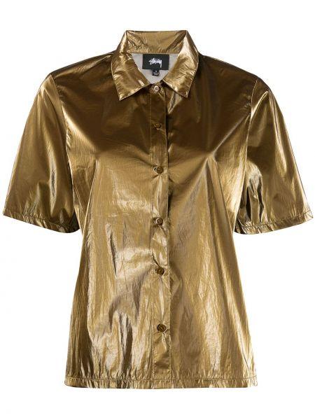Рубашка с коротким рукавом - коричневая Stussy