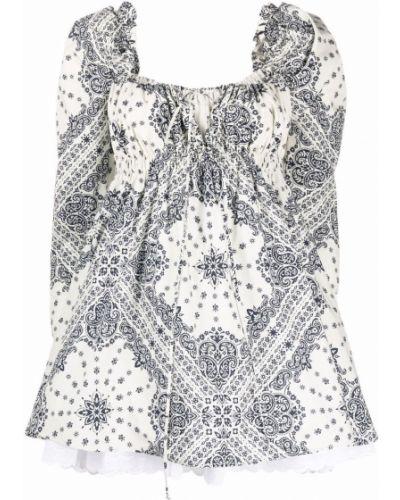 Белое платье макси длинное Maison Bohemique