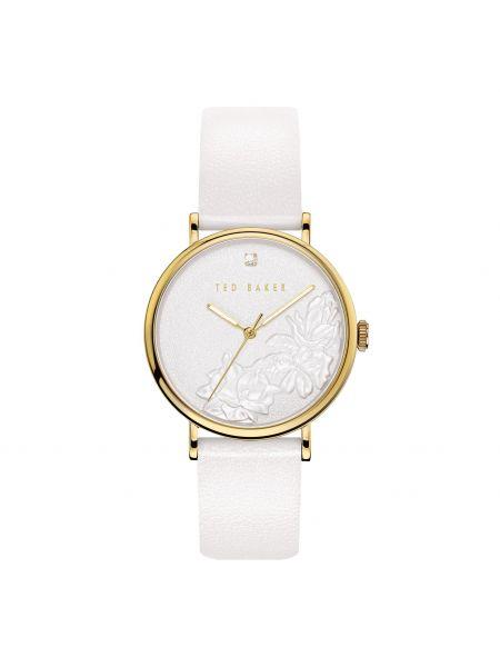 Biały złoty zegarek Ted Baker
