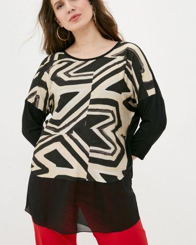 Черная блузка с длинными рукавами Sophia