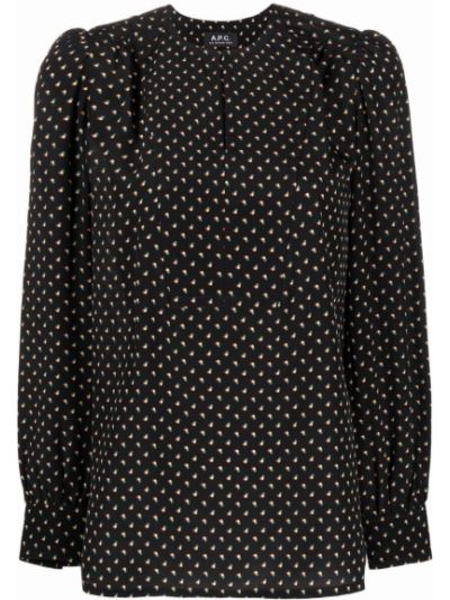 Шелковая блузка - черная A.p.c.