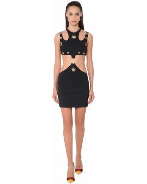 Платье мини с вырезом с аппликациями Fausto Puglisi