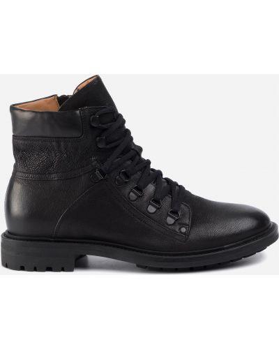 Ботинки на каблуке - черные Gino Rossi