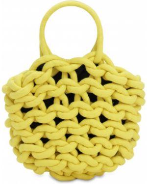 Żółty top bawełniany Alienina