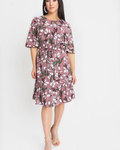 Платье с поясом прямое с оборками Lacywear