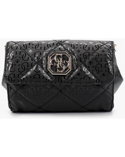 Текстильная черная поясная сумка Guess