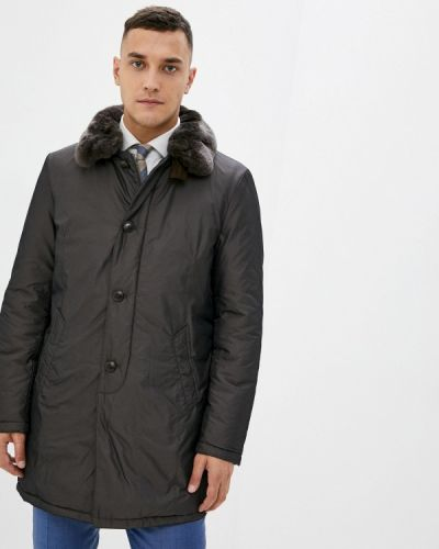 Коричневая теплая куртка Henderson