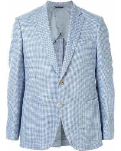 С рукавами синий пиджак на пуговицах с лацканами D'urban