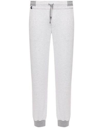 Хлопковые белые брюки с подкладкой Capobianco
