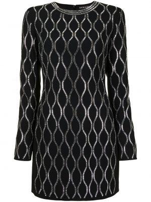 Черное платье мини с вырезом из вискозы David Koma